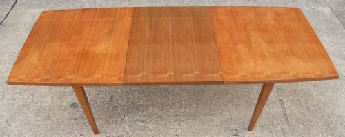 1960's Retro Teak Wood Extending Dining Table to Seat Eight - SOLD